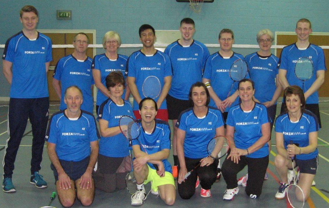 T P Norton Badminton Club - Linzi and her colleagues.